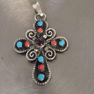 Cross Pendant Silver 925 Mexico